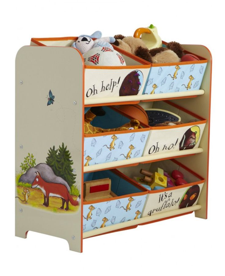 The Gruffalo 6 Bin Organiser - with 6 bins to organise and store everything there'll be no excuse to have a messy room any longer!