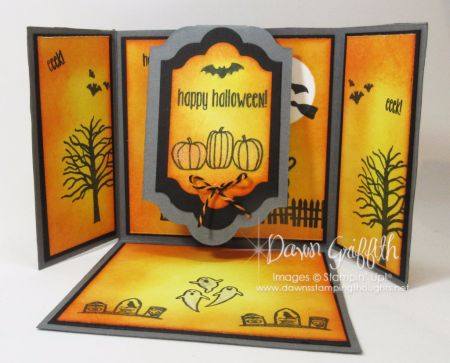 Triple Flap Fold Halloween card video . | Dawn's Stamping Thoughts | Bloglovin'