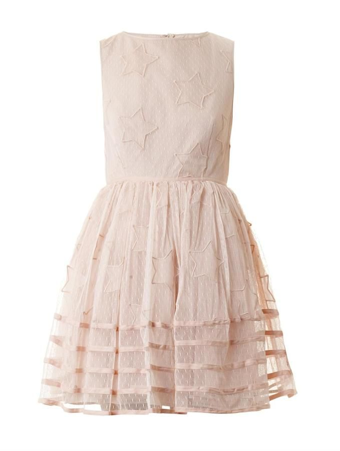 RED Valentino Star-embroidered tuelle dress on shopstyle.com