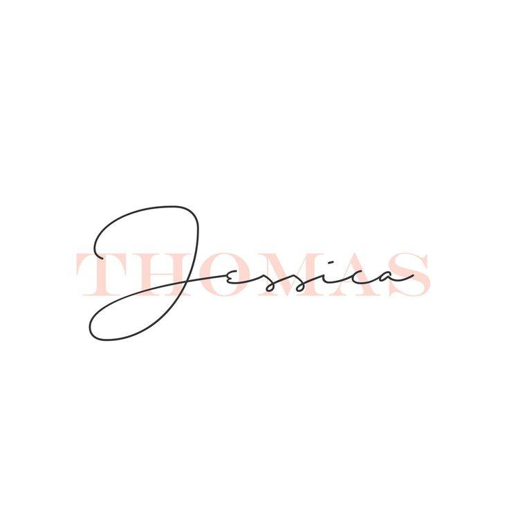 Name Logo - Rose Gold Logo - Mint Logo - Elegant Modern Logo - Initials Logo - Simple Logo - Small Business logo - Personal Logo - Shop Logo - Watermark
