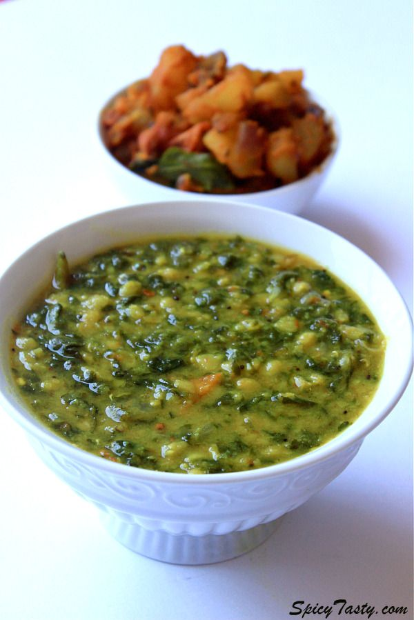 Potato masala and Spinach Dal Curry
