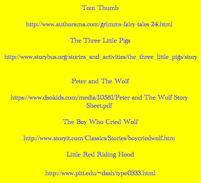 5 Websites to Fairytales about Wolves