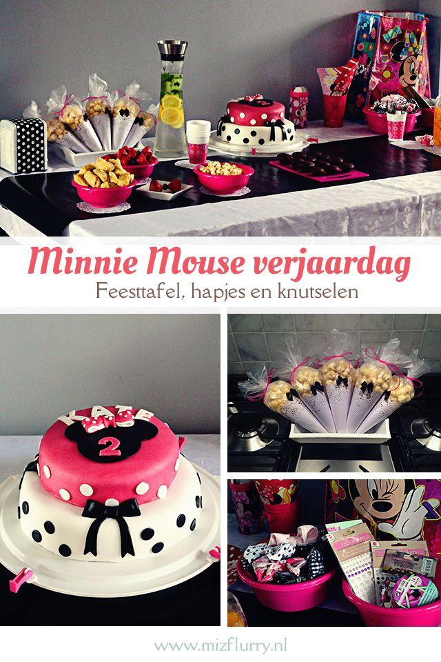 Heb jij een Minnie Mouse-fan in huis, die bijna jarig is? Doe hier dan inspiratie op voor een Minnie Mouse verjaardag: wat zet je op de feesttafel, hoe versier je en strikken knutselen.