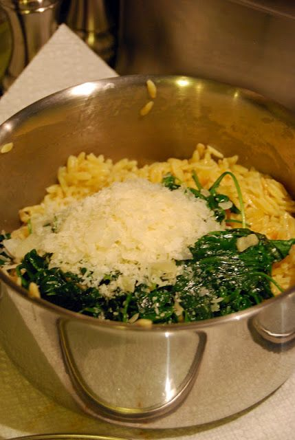 Orzo Pasta with Spinach and Parmesan | by Life Tastes Good #sides #pasta #vegetables