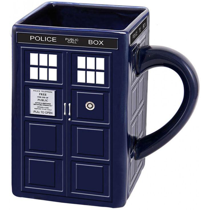 Доктор Кто: ТАРДИС скульптурные Керамическая кружка | магазин Би-би-си