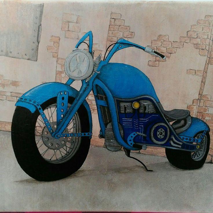 #steampunk #bike #acrilicpainting #canvas #soulmade #handmade #стимпанк #хендмейд #акрил #холст
