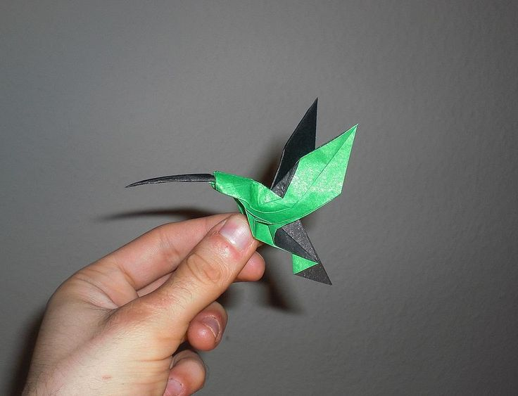 Origami Hummingbird (Christopher Randall) Tutorial ㊙️More Pins Like This At FOSTERGINGER @ Pinterest ㊙️