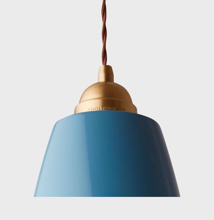 ORIGINAL 1227 BRASS MAXI PENDANT, Ø29 CM - DUSTY BLUE - ANGLEPOISE - Belysning - Produkter