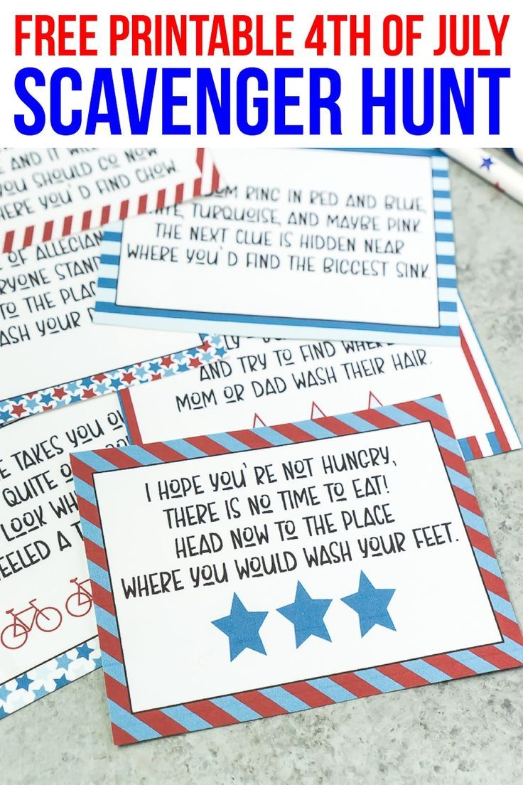 This Free Printable 4th Of July Scavenger Hunt Is One Of The Best 4th Of July Games And Activities 4th Of July Games Scavenger Hunt For Kids 4th Of July Party