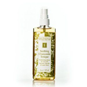 Eminence Soothing Chamomile Tonique, 4 Ounce by Eminence Organic Skin Care. Evens out skin tone; Rich in bioflavinoids. Restores skin to a neutral ph after peels. Contains calming herbs including lavender. A deactivator for use with enzyme, glycolic and lactic peels contains chamomile, licorice and lavender for pacifying and soothing actions blended with comfrey root, an antioxidant and emollient to relieve skin.