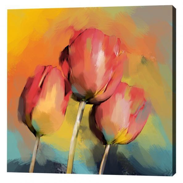 Schilderij 3 bloemen