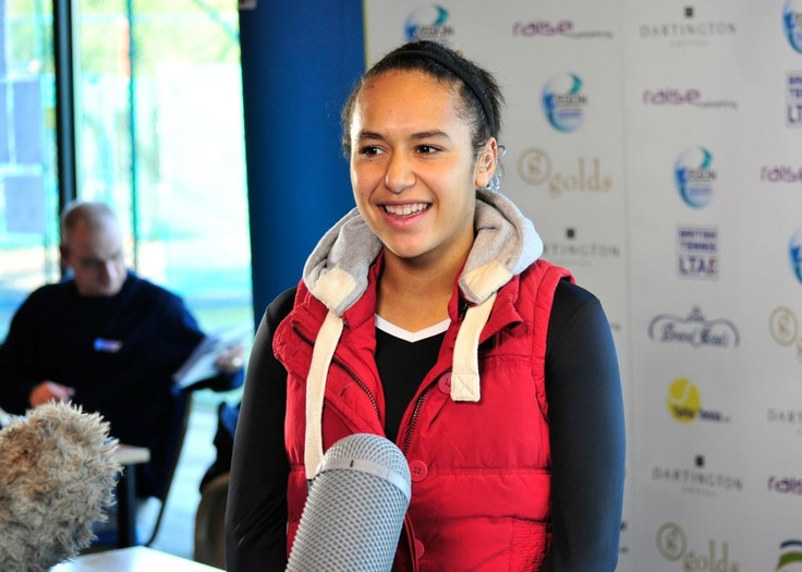 Britain's Heather Watson being interviewed by SKY Sports at the 2011 AEGON Barnstaple        Twitter / Recent images by @BarnstapleOpen