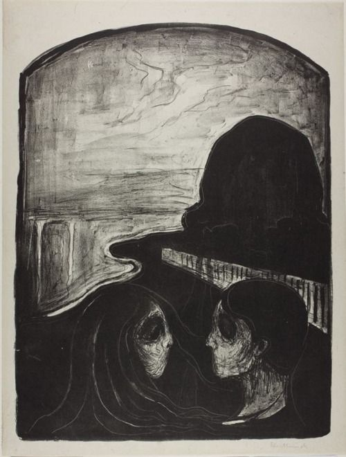 Original Goth: Edvard Munch:     theregoesmygun:    splinter-eye:fuckyeahexpressionism:Edvard Munch, Attraction I, 1896