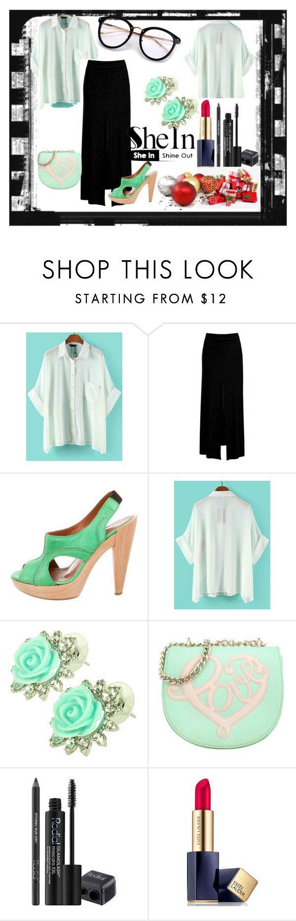 """""""blusa shein"""" by osiris-rojas ❤ liked on Polyvore featuring Sans Souci, Lanvin, Kate Marie, Love Moschino, Rodial and Estée Lauder"""