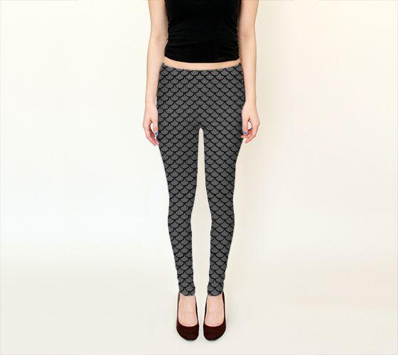 Mermaid Silver Leggings - Available Here: http://artofwhere.com/shop/product/53534