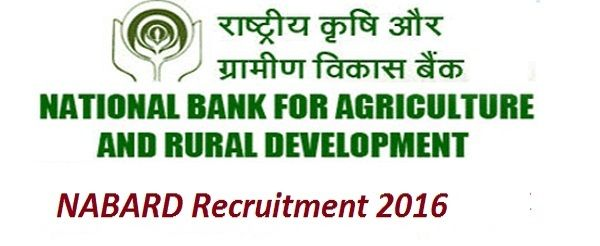 Contract Basis jobs-NABARD-Recriutment-12 Specialist Officers & Assistant Engineer-Pay Scale : Rs.77000/-+Gp-Apply online-Last date 02 January 2017  Job Details :  Post Name : Specialist Officers No of Vacancy : 11 Posts Pay Scale : Rs.77000/- for Junior  levels & Rs.105000/- for Middle levels Post Name : Assistant Engineer No of Vacancy : 11 Posts Pay Scale : Rs.77000/- (Per Month) Eligibility Criteria :  Educational Qualification :