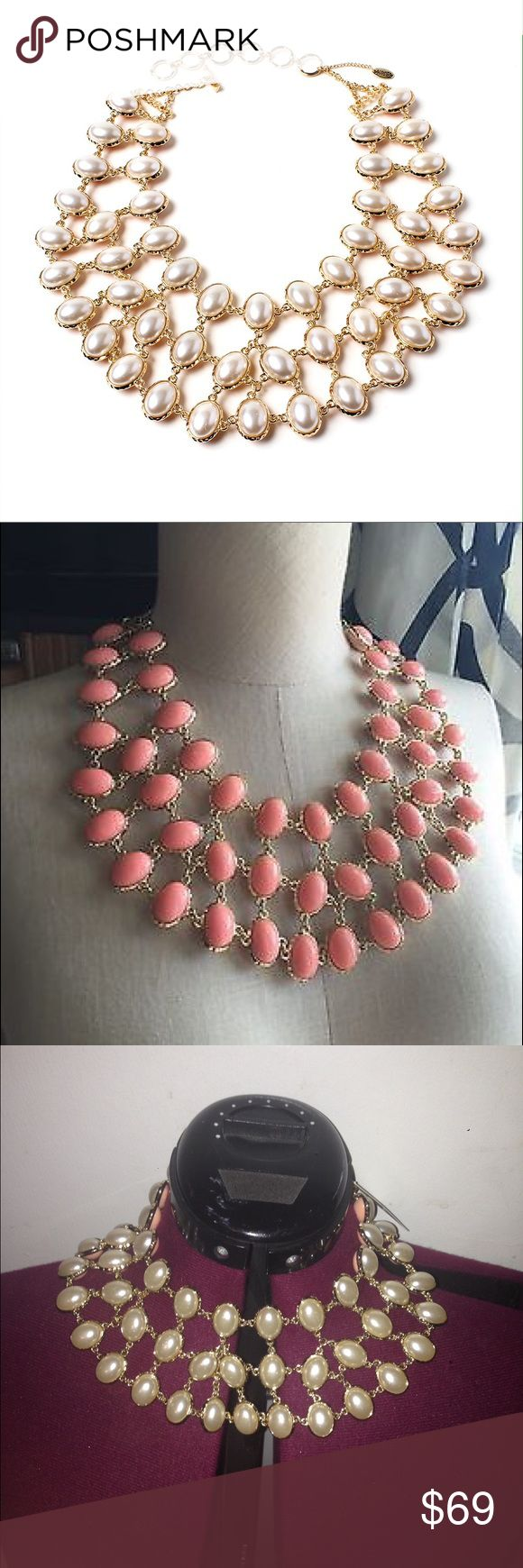 Amrita Singh pearl reversible necklace NWT new Stunning Amrita Singh reversible pearl peach necklace.  New in package Amrita Singh Jewelry Necklaces