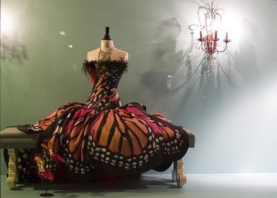 The Monarch Butterfly Dress by Luly Yang Would love this in a yellow or blue swallowtail pattern! What a gorgeous costume!