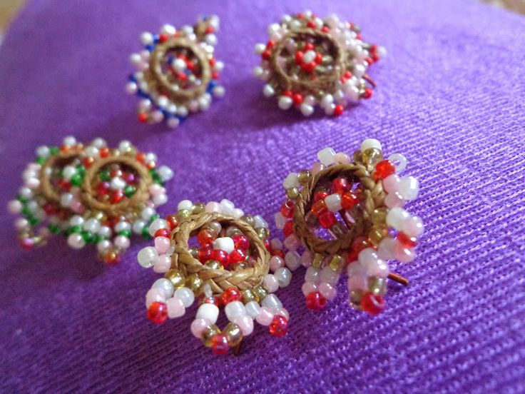 Cane Ear Rings from Assam from Lal10.com