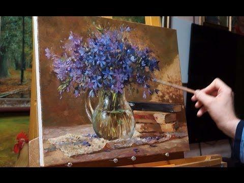 "Process of creating oil painting. Yesterday's roses. ""Вчерашние розы"" живопись маслом Alla Prima - YouTube"
