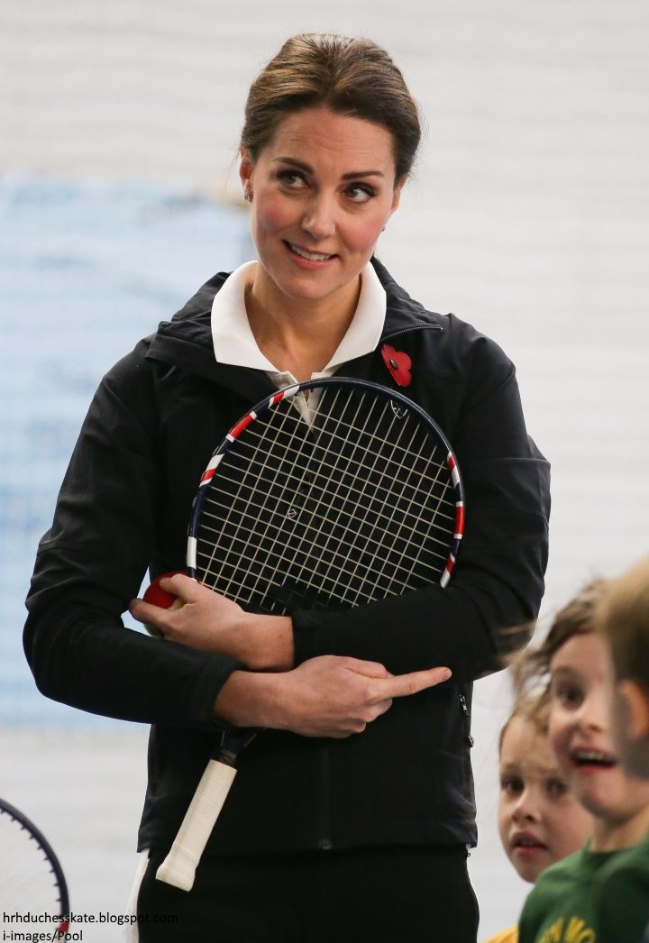What does the Duchess of Cambridge get up to on Halloween? Kate spent part of the morning with a group of children attired in tennis gear (n...