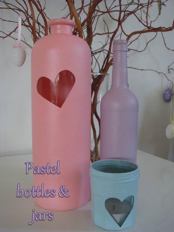 Pastel bottles & jars