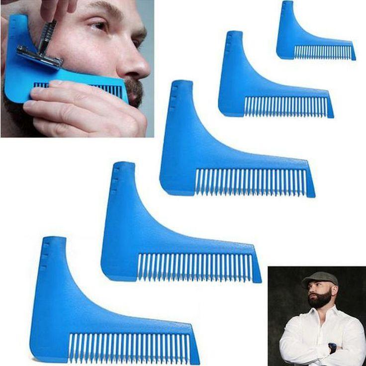 10pcs Beard Comb Beard Shaping Tool Hair Brushes Beard Shaving Trimmer Hair Template High Qulaity Hair Removal Combs B109 #Affiliate