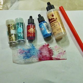 how to use alcohol inks with a simple tape image transfer