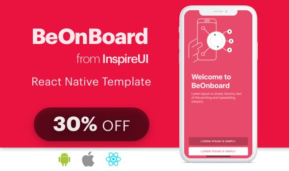 Beonboard Complete Onboarding Template For React Native App Expo Version Https Www Thepirateboys Org Beonboard Compl React Native Onboarding App Templates