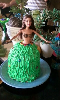 Hula Girl Barbie CakeBarbie Cake - Sorry no recipe, just the picture of the cake. 4/14/13