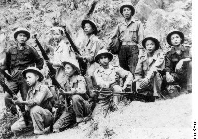 A group of Viet Minh forces-Ho had fought against the Japanese during the war, and even though he was a known communist, American officials in the region who worked with him urged President Truman to support him. That would not happen because of the post-war focus on the growth and intent of communism.Ho seized Hanoi, threw out Bao Dai, and declared all Vietnam to be the Democratic Republic of Vietnam (DRV) as an independent nation, on September 2, 1945,
