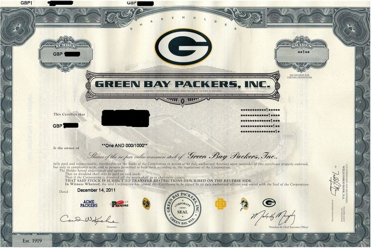 Now part owner of the Green Bay Packers