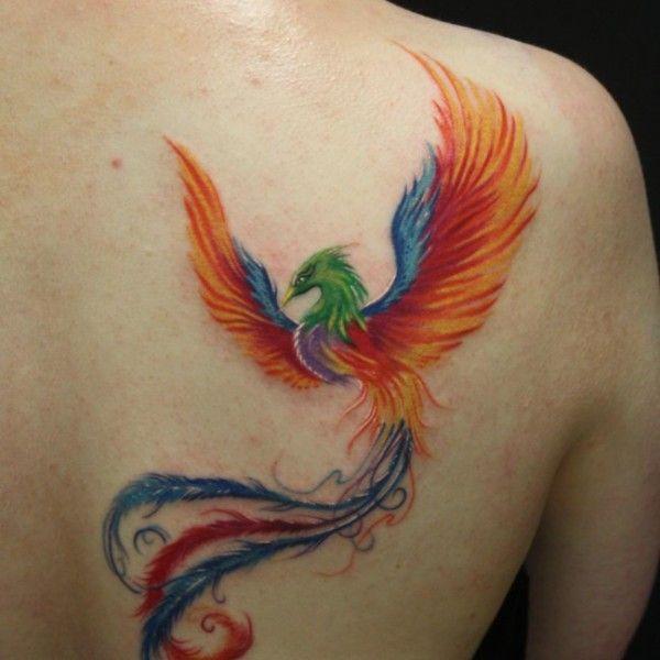 tattoos of owls   Phoenix bird tattoo - phoenix back tattoo on TattooChief.com
