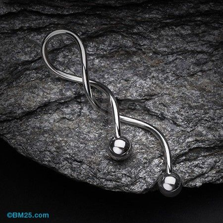 Basic Steel Twister Spiral Belly Button Ring