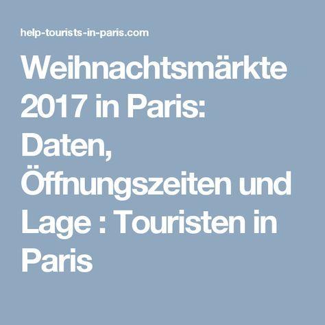 Weihnachtsmärkte 2017 in Paris: Daten, Öffnungszeiten und Lage  : Touristen in Paris