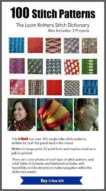 106 Best Loom Knitting Images On Pinterest Knifty Knitter Loom