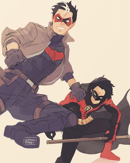 Red Hood & Red Robin. Jason Todd & Tim Drake.