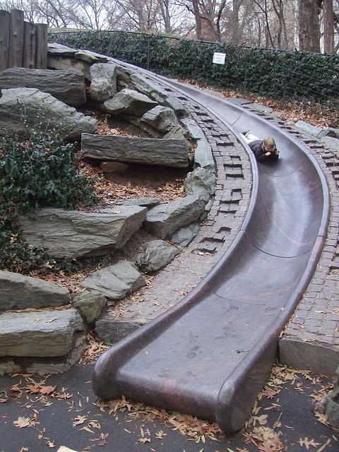 awesome slide in New York City's central park!