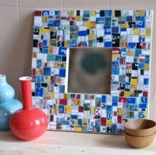 Falsas venecitas, mosaicos o gresite con tarjetas plasticas : VCTRY's BLOG