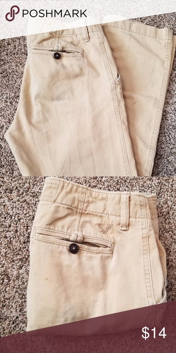 AE Tan Chinos American Eagle chino pants, been moderately used. Still are in great shape, just grew out of them.   30x32 American Eagle Outfitters Pants Chinos & Khakis