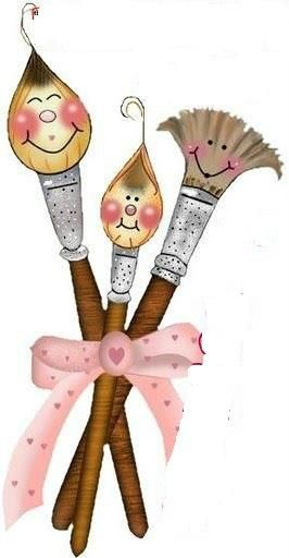 Happy Paint Brushes