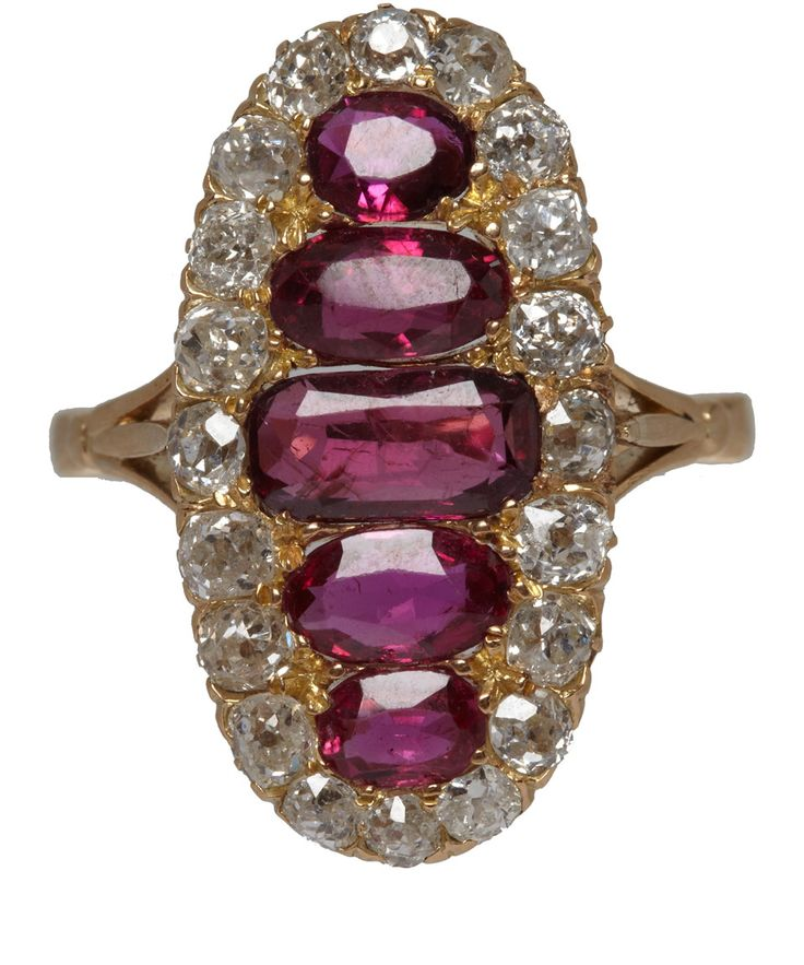 Emmy DE * 18kt Gold Ruby and Diamond Ring