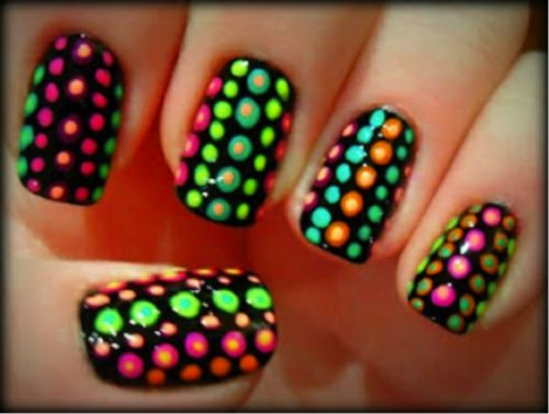 121 best images about neon nails on Pinterest | Neon nail art ...