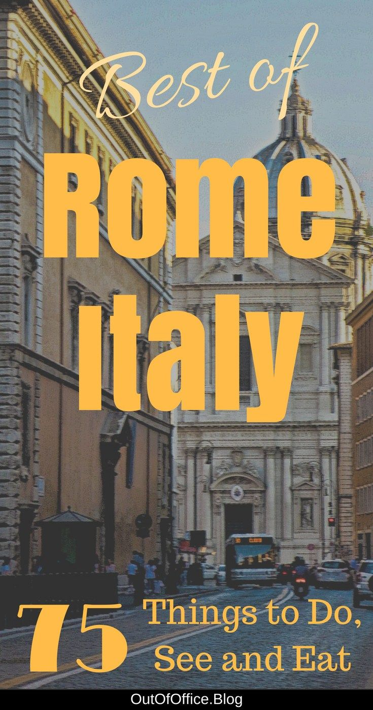 Rome Italy... iconic sights, 280 fountains, beautiful piazzas, famous stairs, winding cobblestone paths, catacombs, trattorias with red checkered tablecloths, creamy pasta dishes and Italian coffee. Here are 74 things to do, see and eat to ensure you experience Rome's La Dolce Vita! #Travel #Rome #Italy