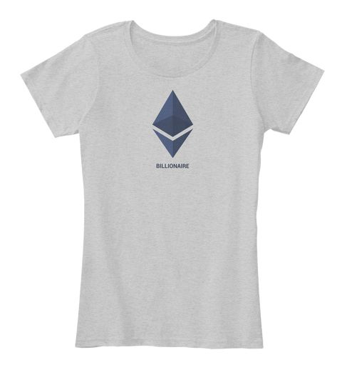 Ethereum Billionaire Light Heather Grey T-Shirt Front