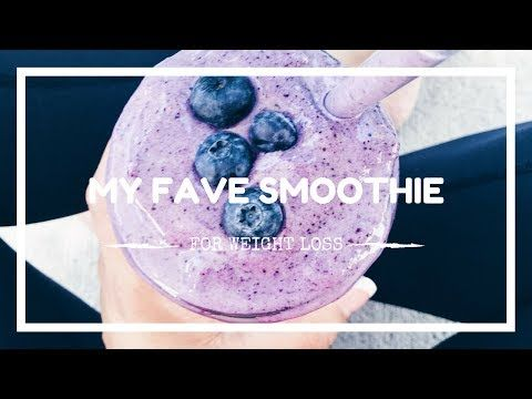 Superfood Smoothie With Blueberries And Leafy Greens