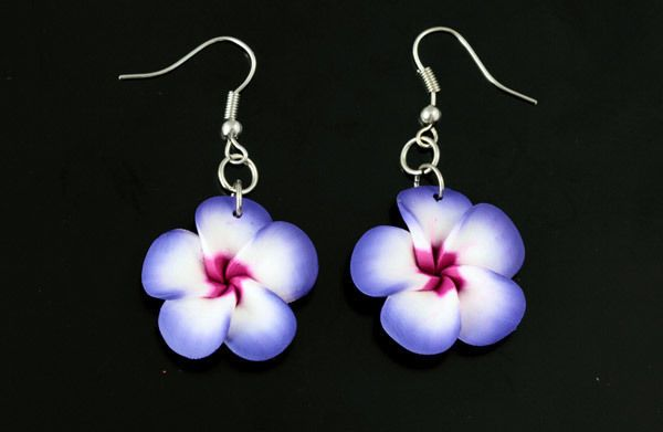*SF* Ohrhänger Ohrstecker Ohrringe Ohrschmuck Hibiskus lila violett klein handge in Uhren & Schmuck, Folkloreschmuck, Asiatischer Schmuck | eBay!