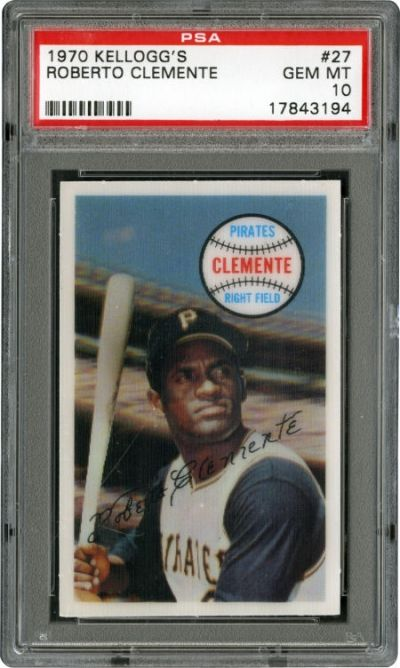 Roberto Clemente played his final game on October 3, 1972. Valuable Roberto Clemente baseball collectibles include signed balls, Pittsburgh Pirates baseball contracts, bobbing head dolls, 1955 Topps rookie cards and 3,000th hit programs/ticket stubs.
