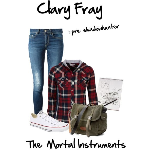 Clary Fray: pre Shadowhunter by mruff5678 on Polyvore featuring polyvore, fashion, style, dELiA*s, Dondup, Converse and clothing