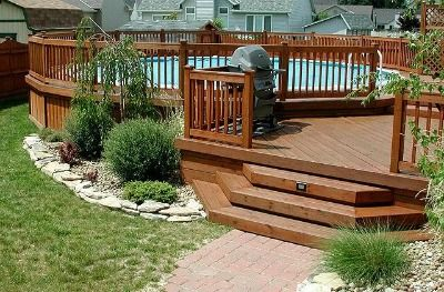 Landscaping Around Above Ground Pools | Above Ground Pool Landscaping Ideas, Swimming Pool Landscape Pictures